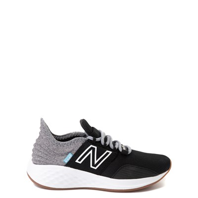 Main view of New Balance Fresh Foam Roav Athletic Shoe - Big Kid - Black / Light Gray