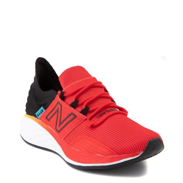 alternate view New Balance Fresh Foam Roav Athletic Shoe - Little Kid - Velocity Red / Magnet BlackALT1