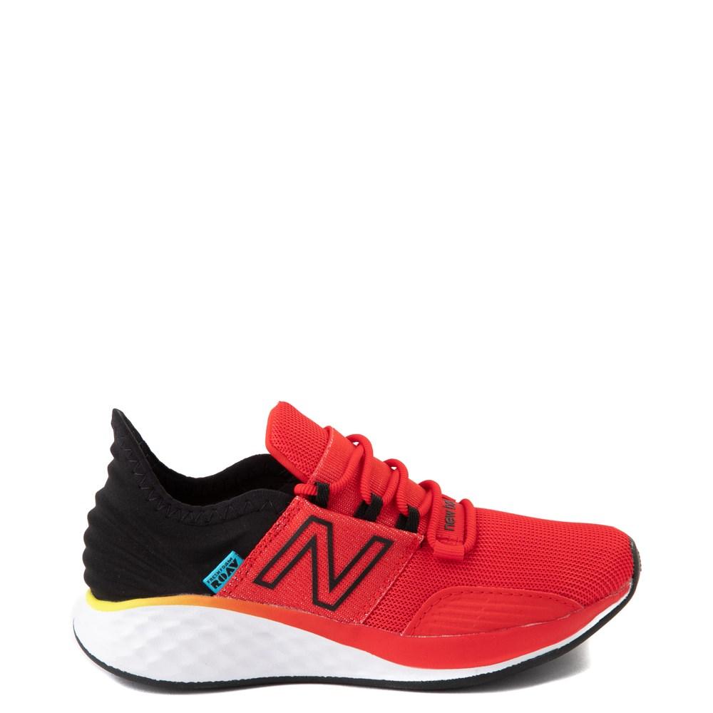 New Balance Fresh Foam Roav Athletic Shoe - Little Kid - Velocity Red / Magnet Black