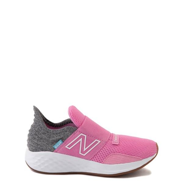 Main view of New Balance Fresh Foam Roav Slip On Athletic Shoe - Little Kid - Candy Pink / Gray