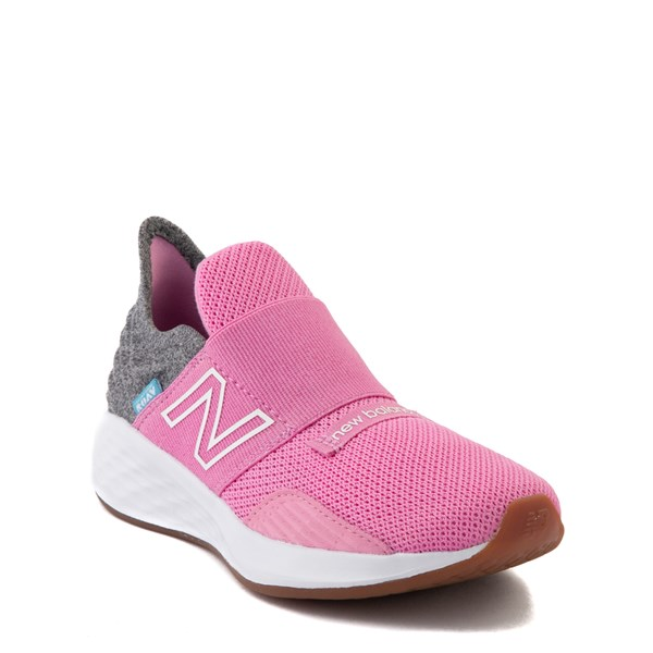 alternate view New Balance Fresh Foam Roav Slip On Athletic Shoe - Little Kid - Candy Pink / GrayALT1