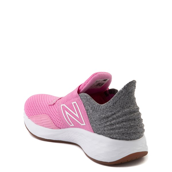 alternate view New Balance Fresh Foam Roav Slip On Athletic Shoe - Little Kid - Candy Pink / GrayALT2