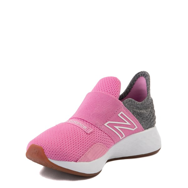 alternate view New Balance Fresh Foam Roav Slip On Athletic Shoe - Little Kid - Candy Pink / GrayALT3