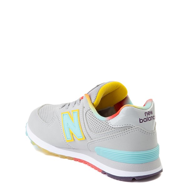 alternate view New Balance 574 Athletic Shoe - Big Kid - Light Aluminum / Newport BlueALT2
