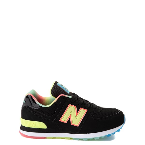 New Balance 574 Athletic Shoe - Little Kid - Black / Lemon Slush