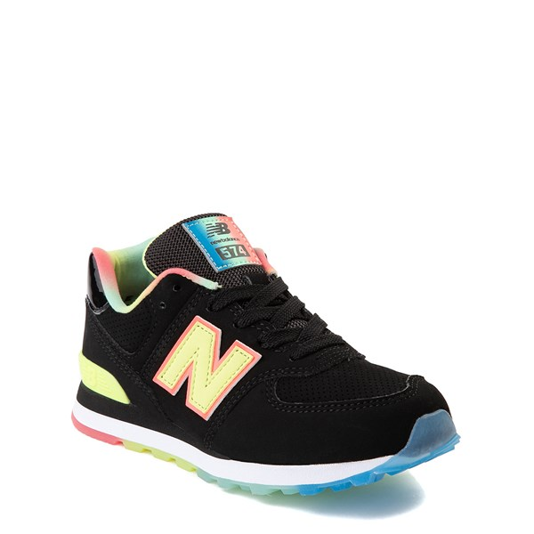 alternate view New Balance 574 Athletic Shoe - Little Kid - Black / Lemon SlushALT1