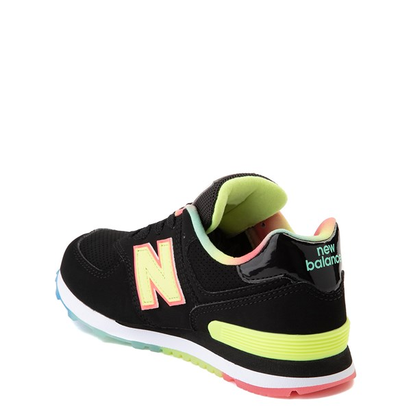 alternate view New Balance 574 Athletic Shoe - Little Kid - Black / Lemon SlushALT2