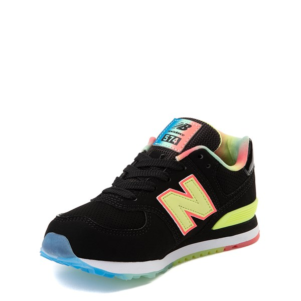 alternate view New Balance 574 Athletic Shoe - Little Kid - Black / Lemon SlushALT3