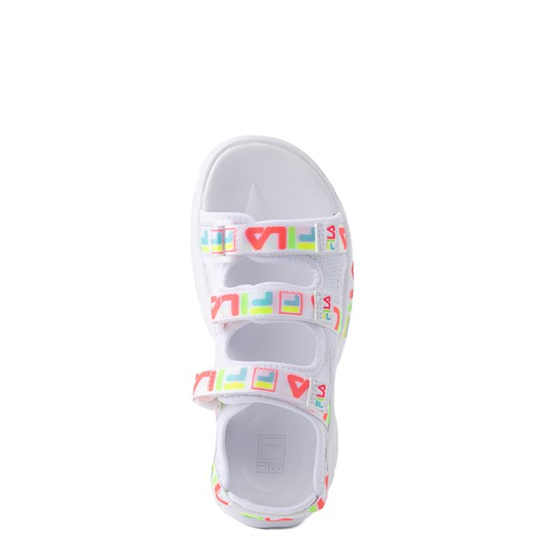 alternate view Fila Disruptor Sandal - Little Kid / Big Kid - White / MultiALT4B