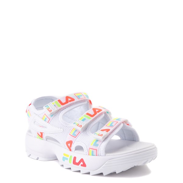 alternate view Fila Disruptor Sandal - Little Kid / Big Kid - White / MultiALT5