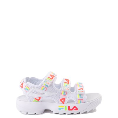 Main view of Fila Disruptor Sandal - Little Kid / Big Kid - White / Multi