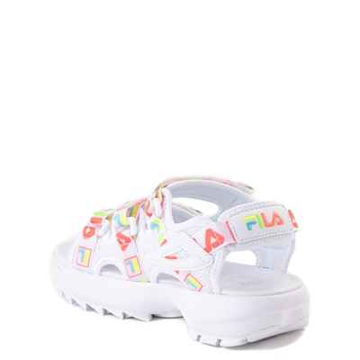 Alternate view of Fila Disruptor Sandal - Little Kid / Big Kid - White / Multi