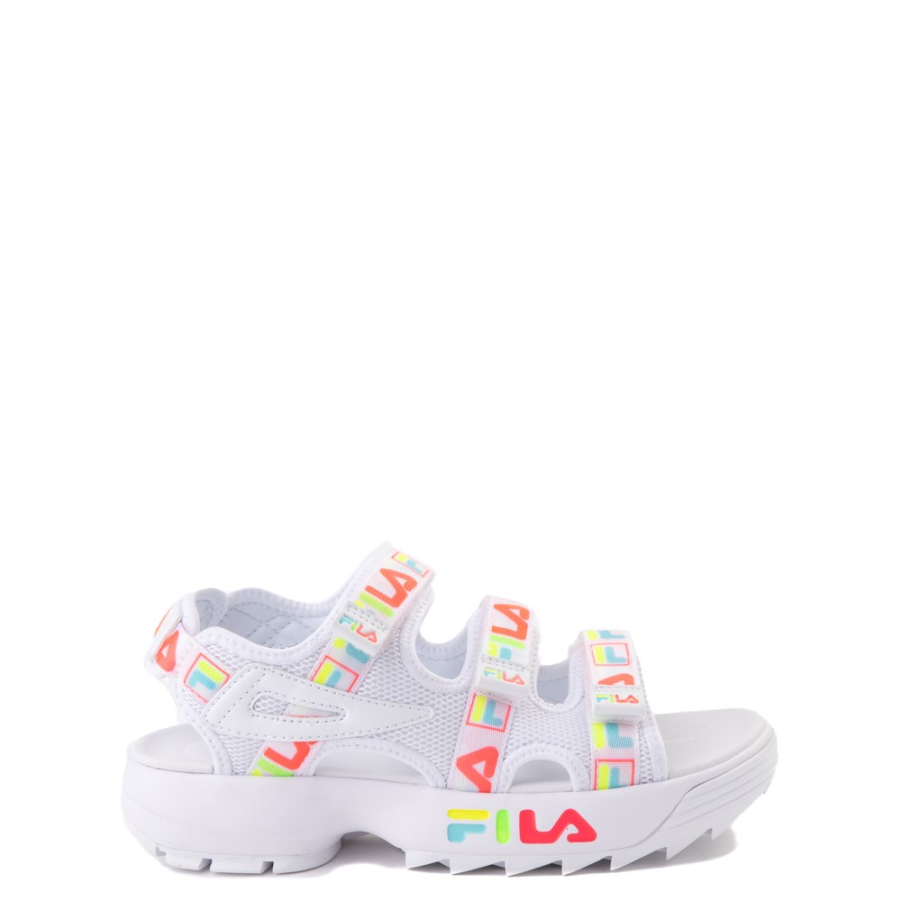 Fila Disruptor Sandal - Little Kid / Big Kid - White / Multi