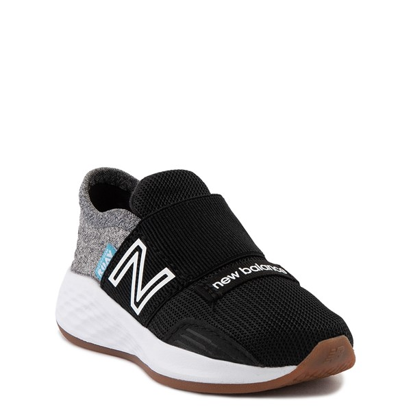 alternate view New Balance Fresh Foam Roav Slip On Athletic Shoe - Baby / Toddler - Black / Light GrayALT1