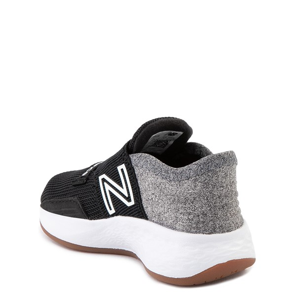 alternate view New Balance Fresh Foam Roav Slip On Athletic Shoe - Baby / Toddler - Black / Light GrayALT2