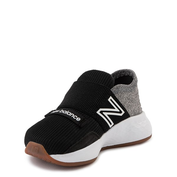 alternate view New Balance Fresh Foam Roav Slip On Athletic Shoe - Baby / Toddler - Black / Light GrayALT3