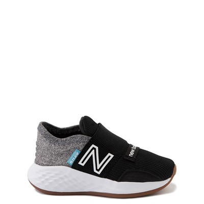 Main view of New Balance Fresh Foam Roav Slip On Athletic Shoe - Baby / Toddler - Black / Light Gray