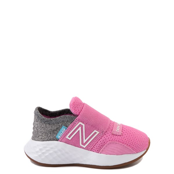 New Balance Fresh Foam Roav Slip On Athletic Shoe - Baby / Toddler - Candy Pink / Gray