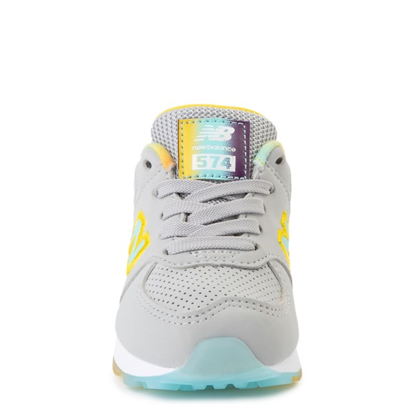 alternate view New Balance 574 Athletic Shoe - Baby / Toddler - Light Aluminum / Newport BlueALT4