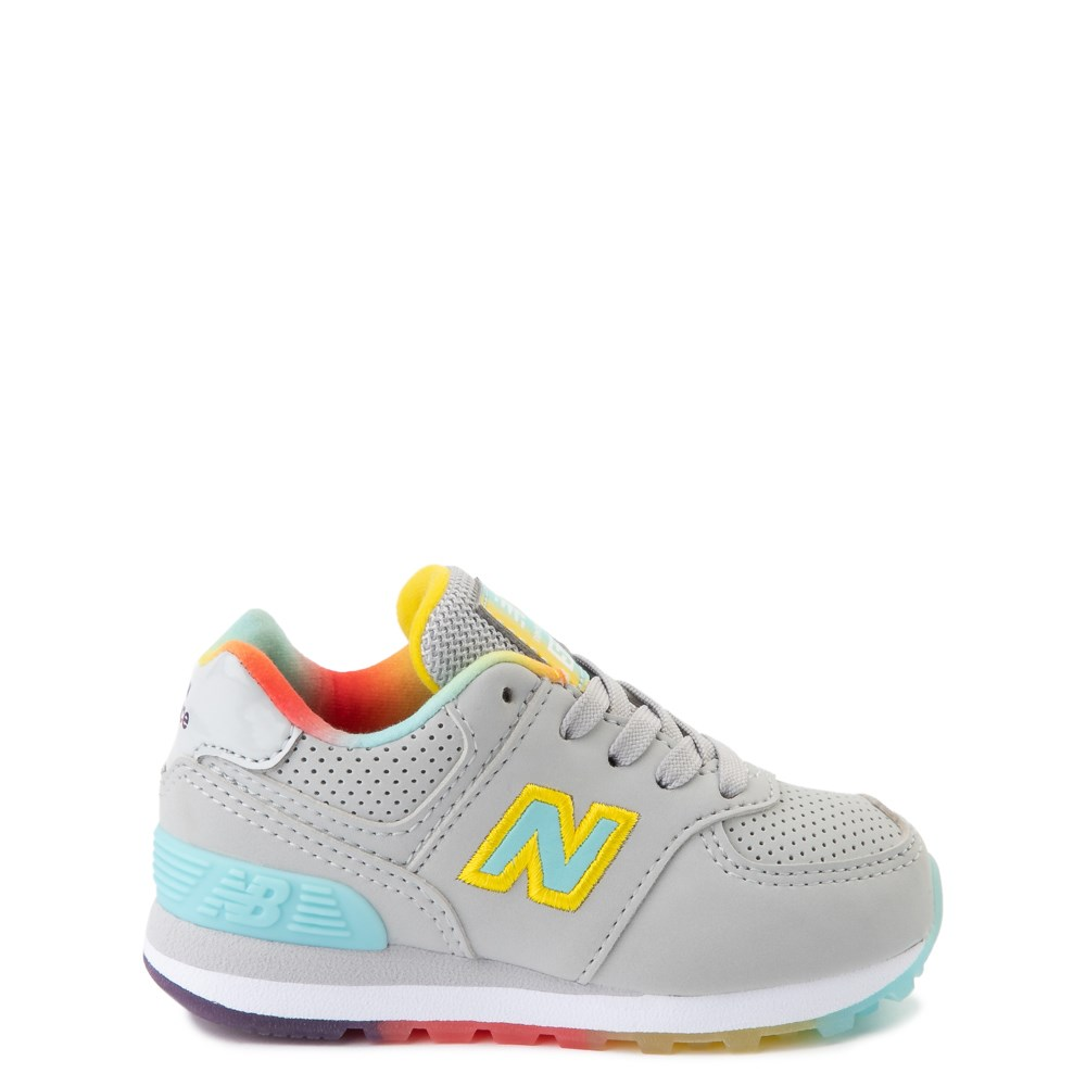 New Balance 574 Athletic Shoe - Baby / Toddler - Light Aluminum / Newport Blue