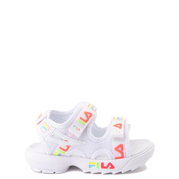 Main view of Fila Disruptor Sandal - Baby / Toddler - White / Multi
