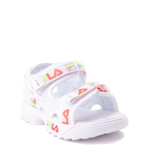 alternate view Fila Disruptor Sandal - Baby / Toddler - White / MultiALT1