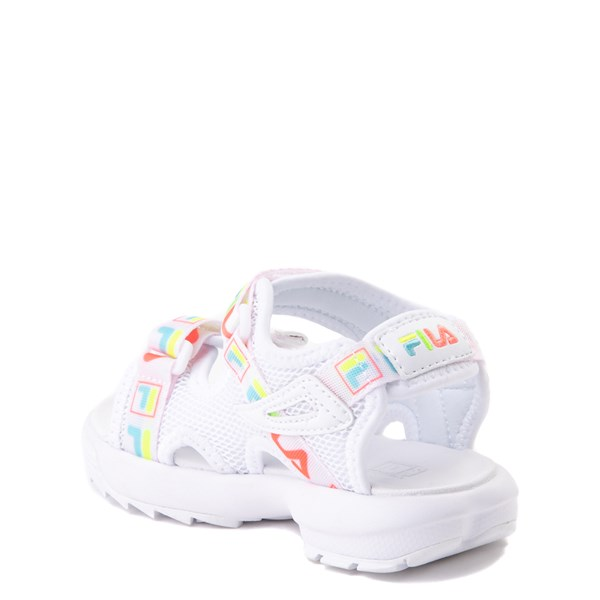 alternate view Fila Disruptor Sandal - Baby / Toddler - White / MultiALT2