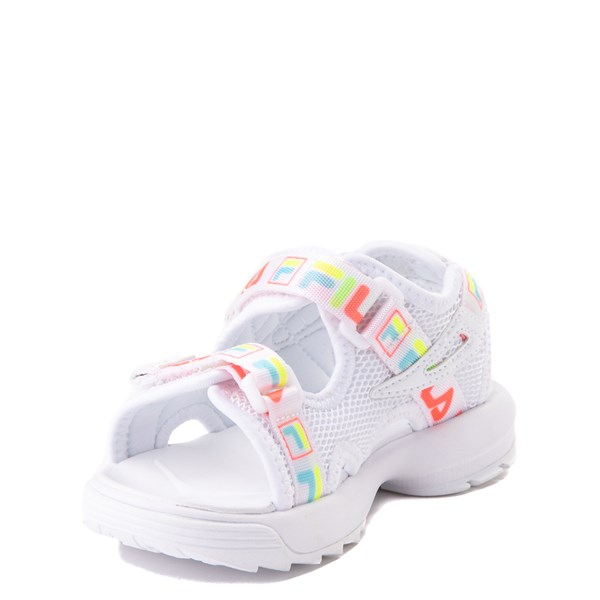 alternate view Fila Disruptor Sandal - Baby / Toddler - White / MultiALT3