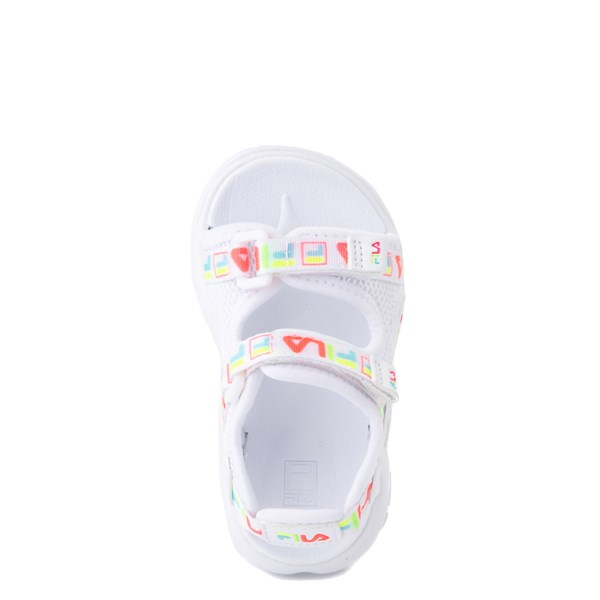 alternate view Fila Disruptor Sandal - Baby / Toddler - White / MultiALT4B