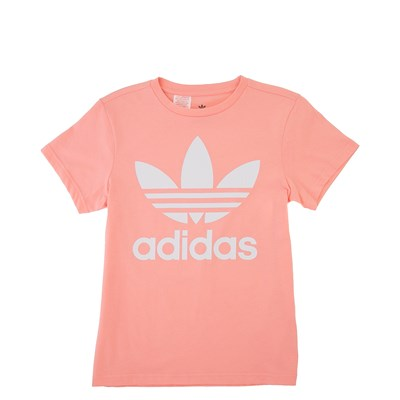 Main view of adidas Trefoil Tee - Little Kid / Big Kid - Pink