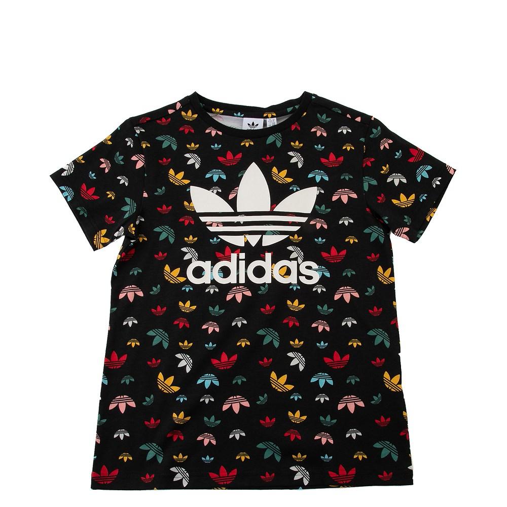 adidas All-Over Trefoil Tee - Little Kid / Big Kid - Black