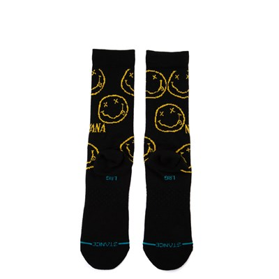 Alternate view of Mens Stance Nirvana Face Crew Socks - Black