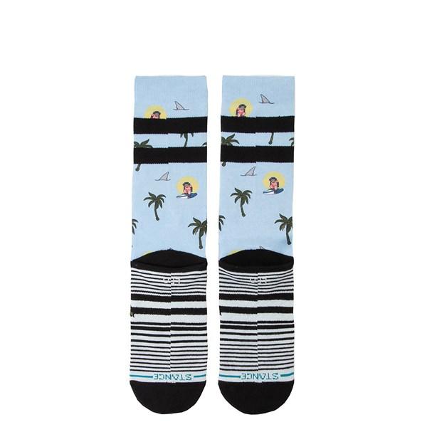 alternate view Mens Stance Aloha Monkey Crew Socks - Light BlueALT1