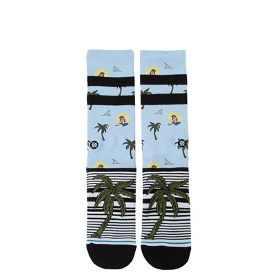 Main view of Mens Stance Aloha Monkey Crew Socks - Light Blue