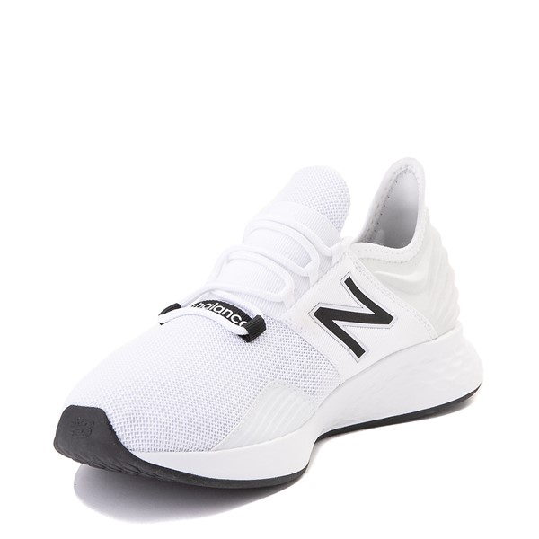 alternate view Mens New Balance Fresh Foam Roav Athletic Shoe - White / BlackALT2