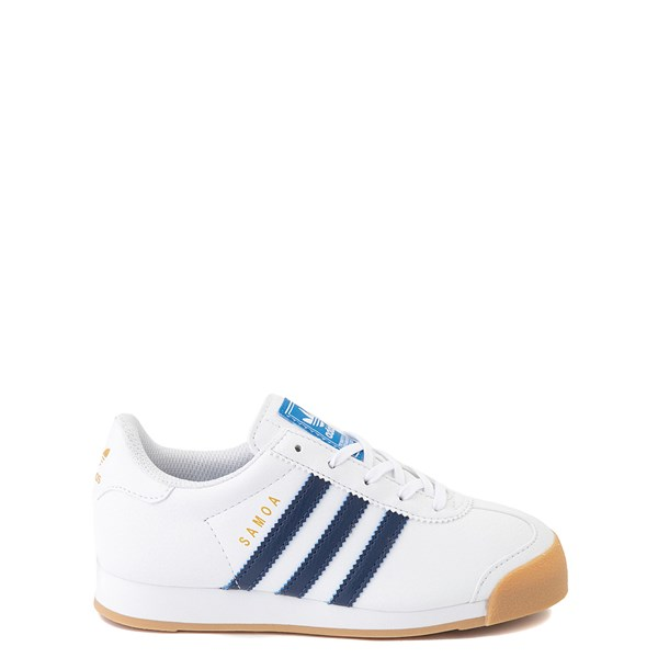 Main view of adidas Samoa Athletic Shoe - Little Kid - White / Navy / Gum