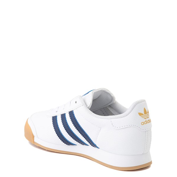 alternate view adidas Samoa Athletic Shoe - Little Kid - White / Navy / GumALT2