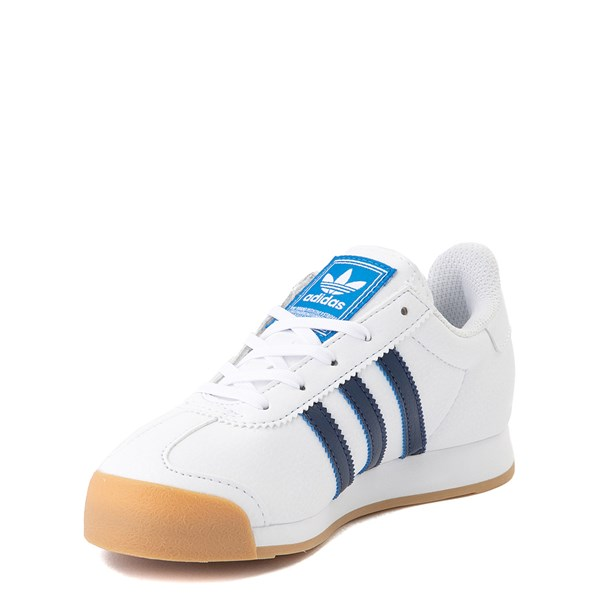 alternate view adidas Samoa Athletic Shoe - Little Kid - White / Navy / GumALT3