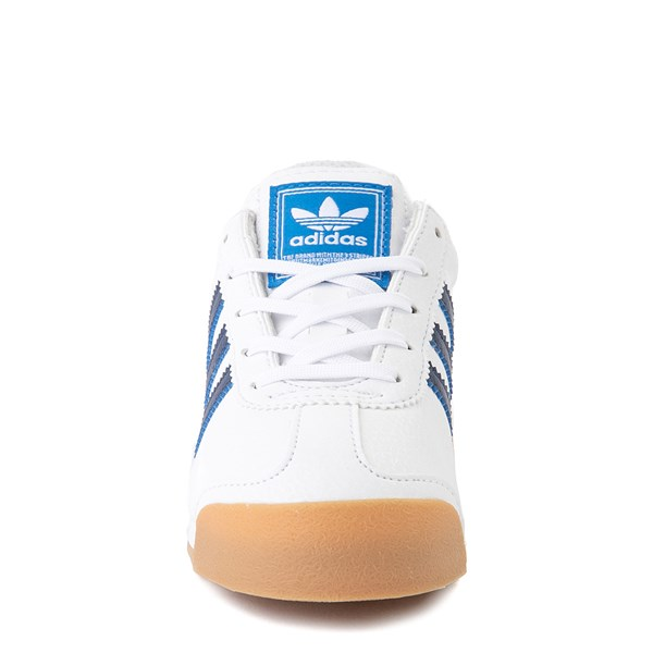 alternate view adidas Samoa Athletic Shoe - Little Kid - White / Navy / GumALT4