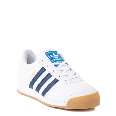 Alternate view of adidas Samoa Athletic Shoe - Little Kid - White / Navy / Gum