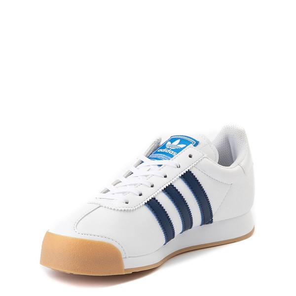alternate view adidas Samoa Athletic Shoe - Big Kid - White / Navy / GumALT2