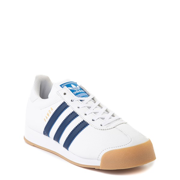 alternate view adidas Samoa Athletic Shoe - Big Kid - White / Navy / GumALT5