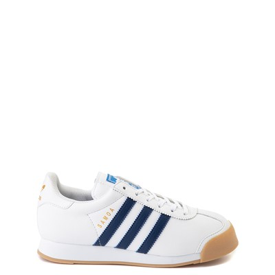 Main view of adidas Samoa Athletic Shoe - Big Kid - White / Navy / Gum