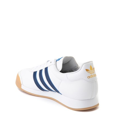 Alternate view of adidas Samoa Athletic Shoe - Big Kid - White / Navy / Gum