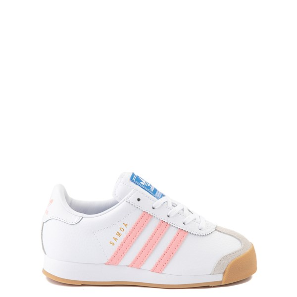 Main view of adidas Samoa Athletic Shoe - Little Kid - White / Pink / Gum