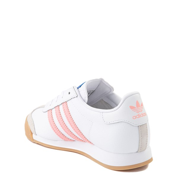 alternate view adidas Samoa Athletic Shoe - Little Kid - White / Pink / GumALT2