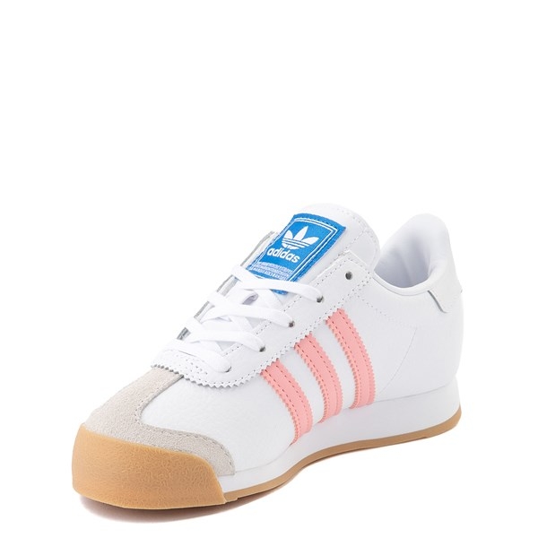 alternate view adidas Samoa Athletic Shoe - Little Kid - White / Pink / GumALT3