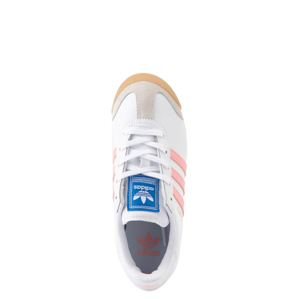 alternate view adidas Samoa Athletic Shoe - Little Kid - White / Pink / GumALT4B