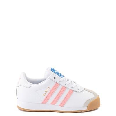 Main view of adidas Samoa Athletic Shoe - Little Kid - White / Pink / Gum