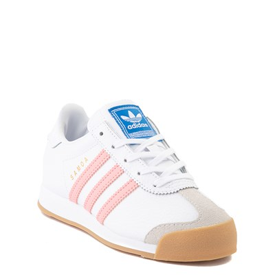 Alternate view of adidas Samoa Athletic Shoe - Little Kid - White / Pink / Gum
